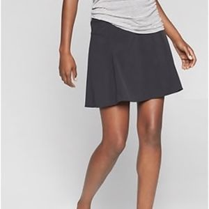 Athleta All Day Skort Black Woven Size 0 Athletic